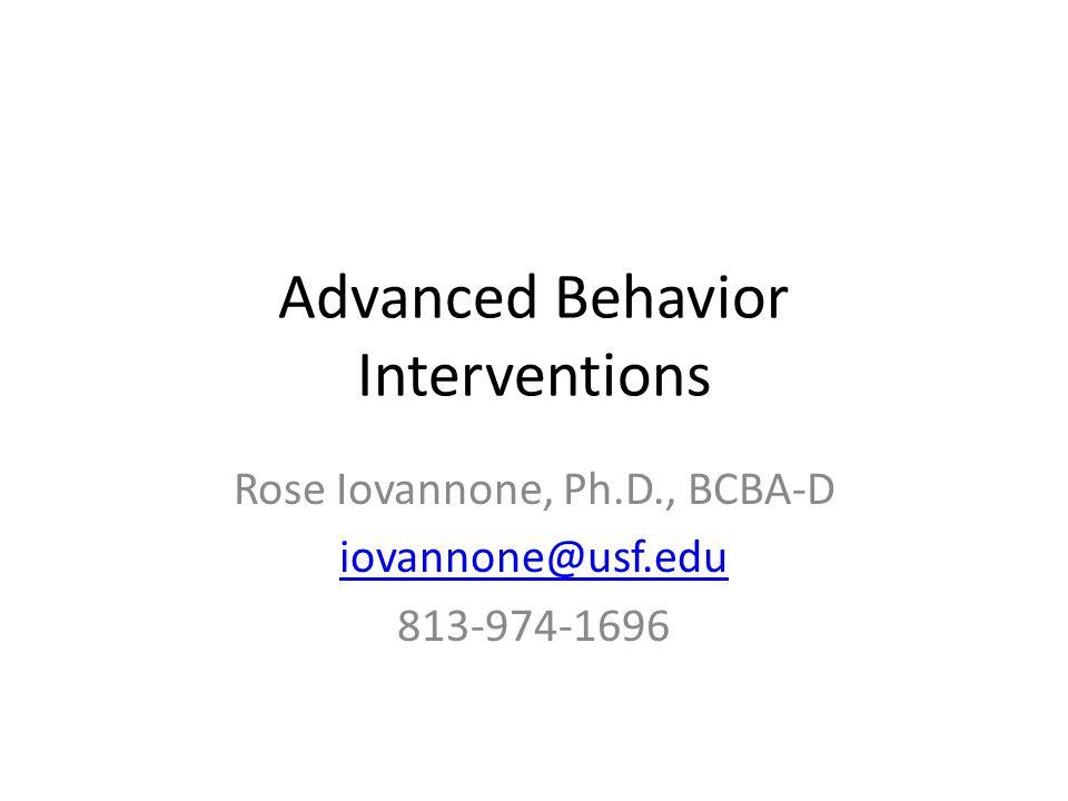 Advanced Behavior Interventions