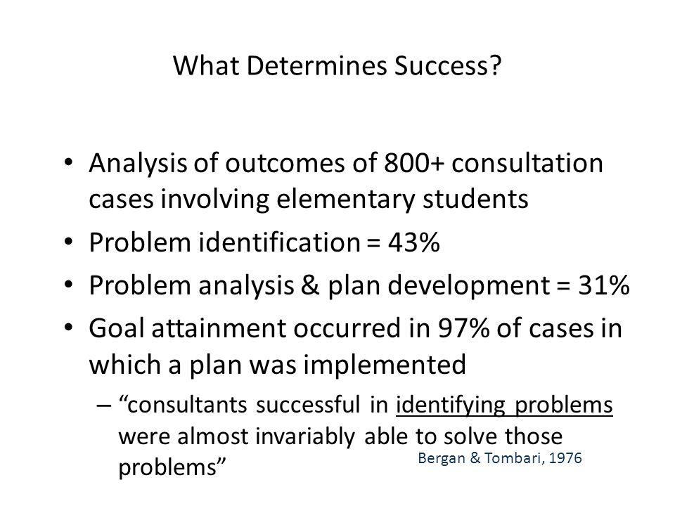 What Determines Success