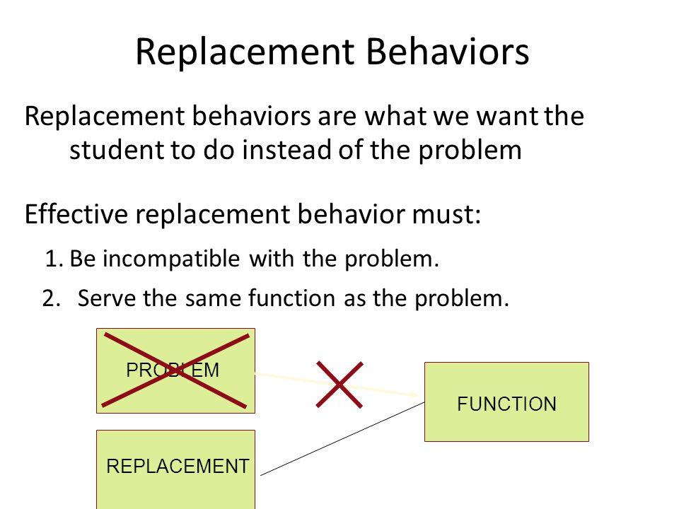 Replacement Behaviors