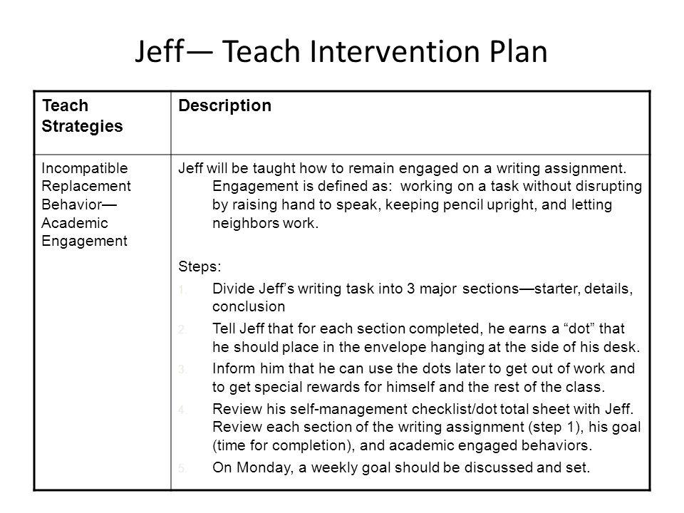 Jeff— Teach Intervention Plan