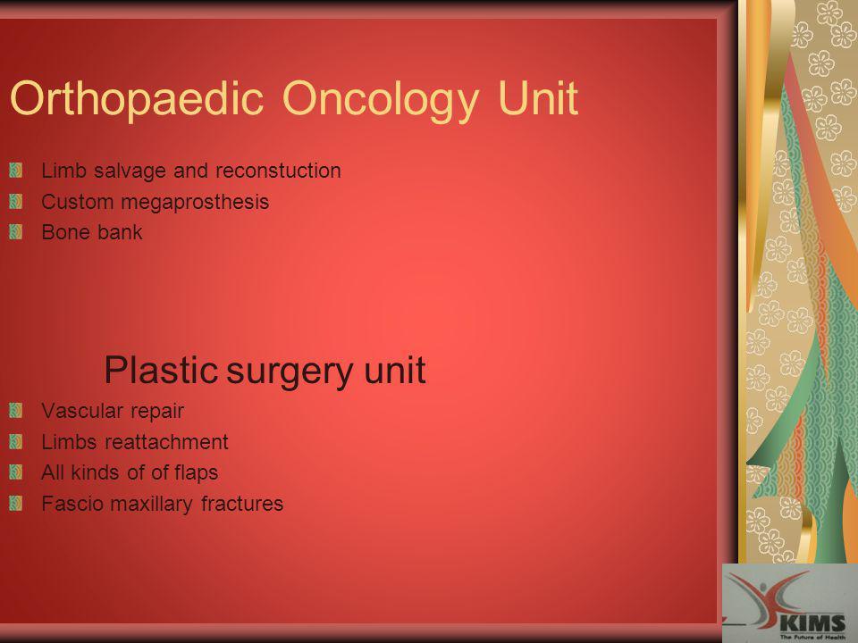 Orthopaedic Oncology Unit