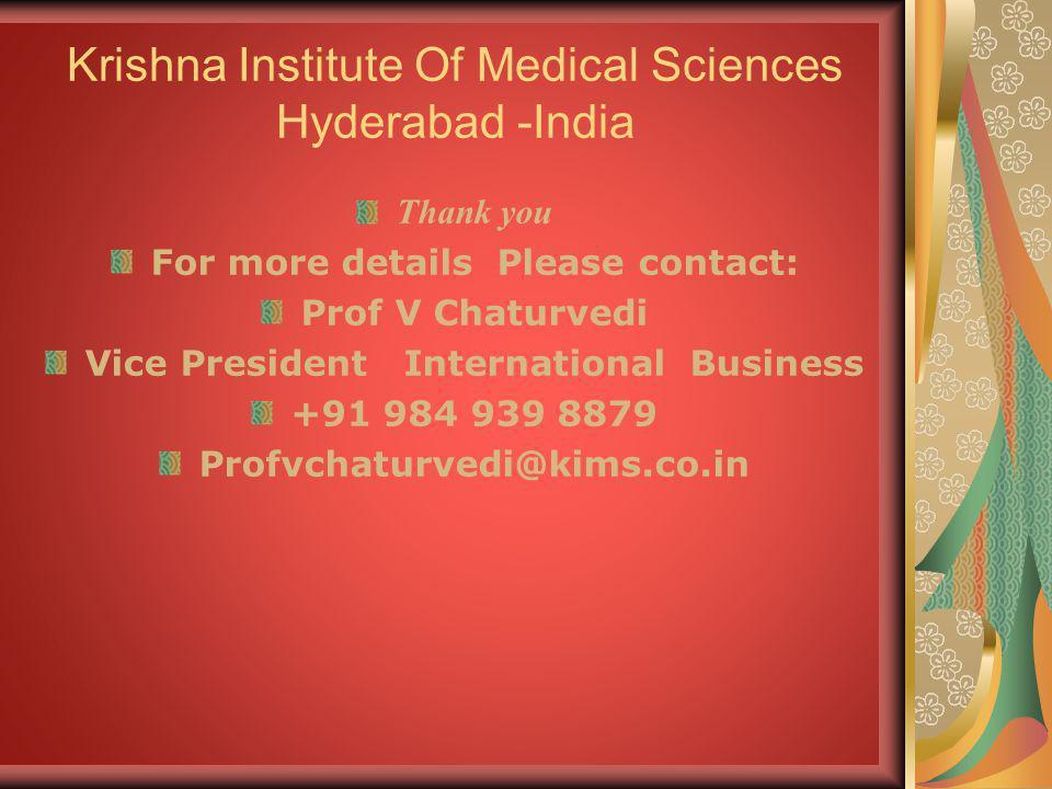 Krishna Institute Of Medical Sciences Hyderabad -India