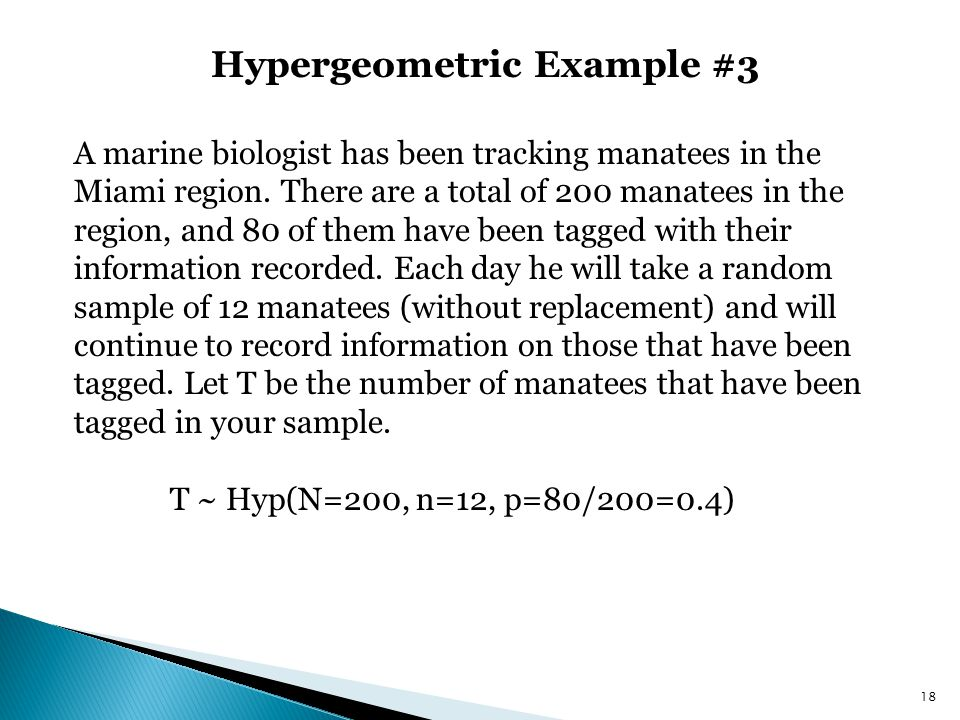 Hypergeometric Example #3