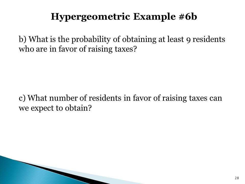 Hypergeometric Example #6b