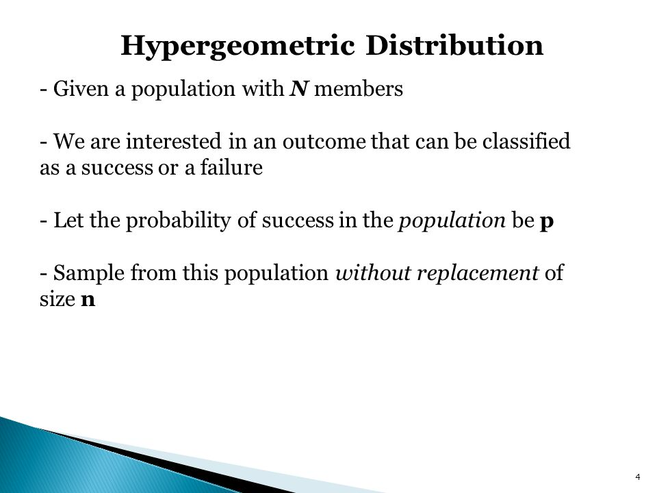 Hypergeometric Distribution