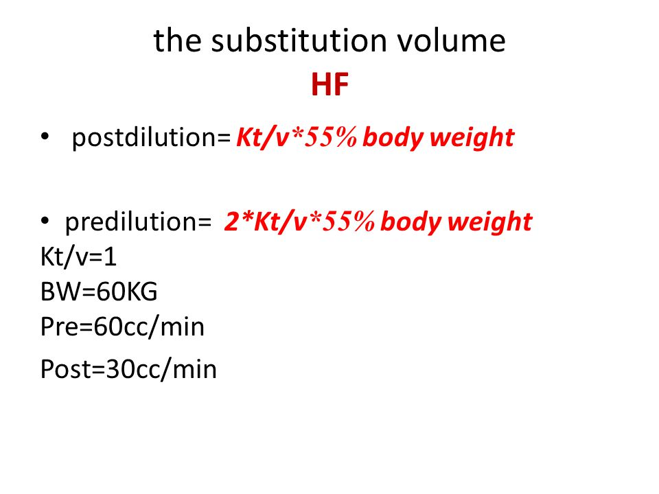 the substitution volume HF