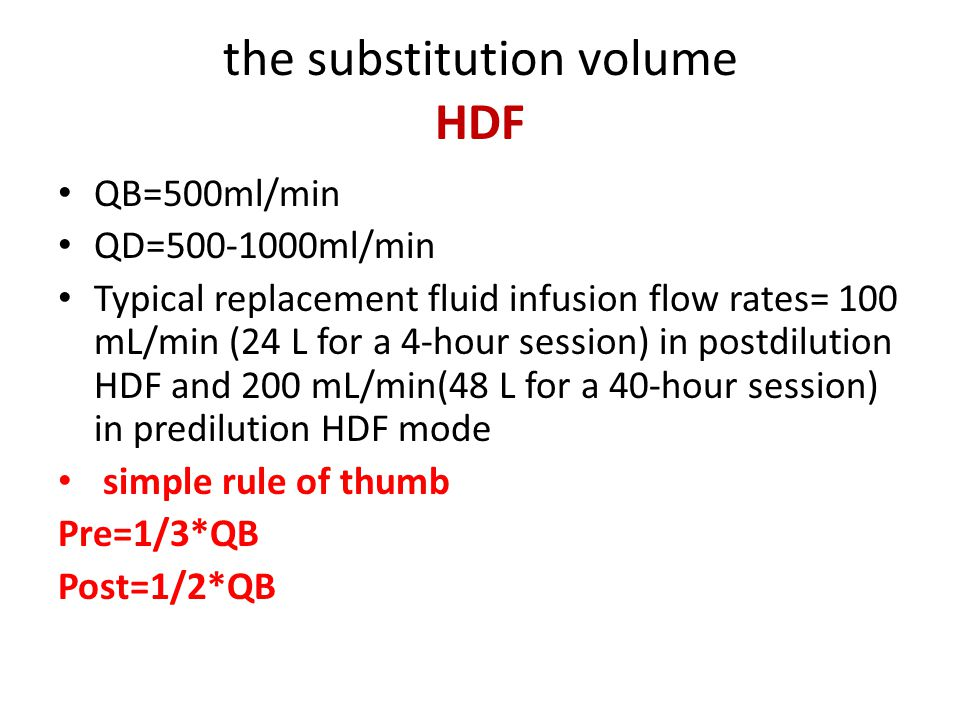 the substitution volume HDF