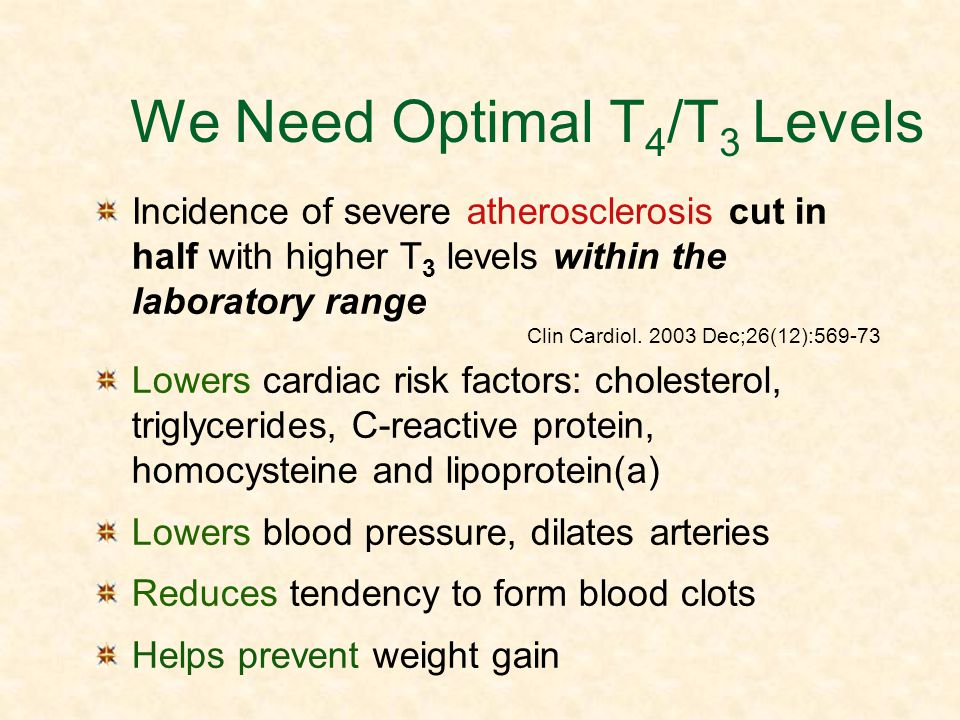 We Need Optimal T4/T3 Levels