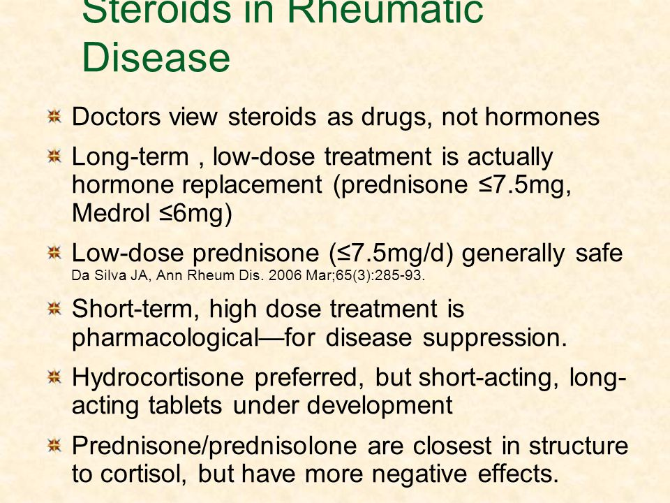 steroid use can have long term side effects on the body When you know what side effects are possible, you can take steps to control their impact side effects of oral corticosteroids because oral corticosteroids affect your entire body instead of just a particular area, this route of administration is the most likely to cause significant side effects.