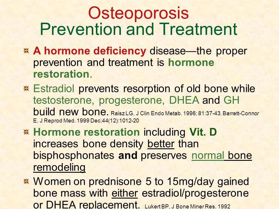 Osteoporosis Prevention and Treatment