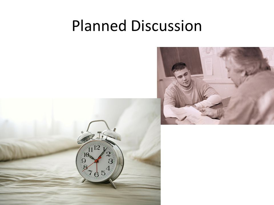 Planned Discussion