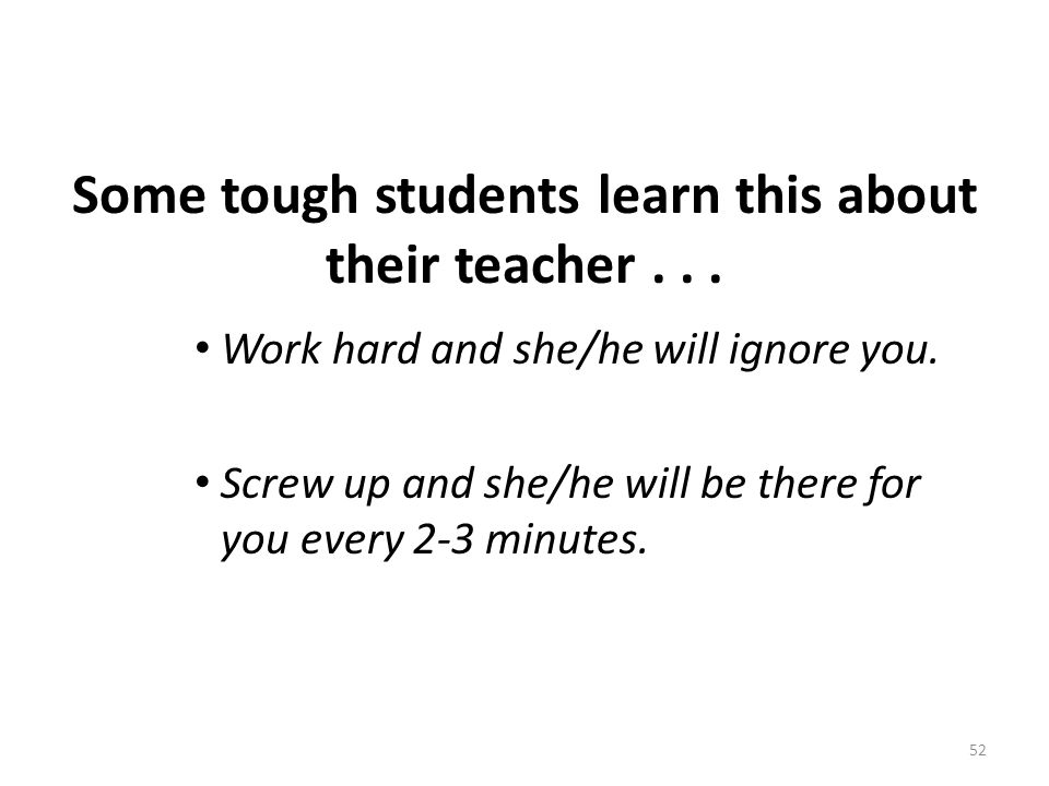 Some tough students learn this about their teacher . . .