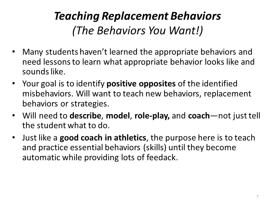 Teaching Replacement Behaviors (The Behaviors You Want!)