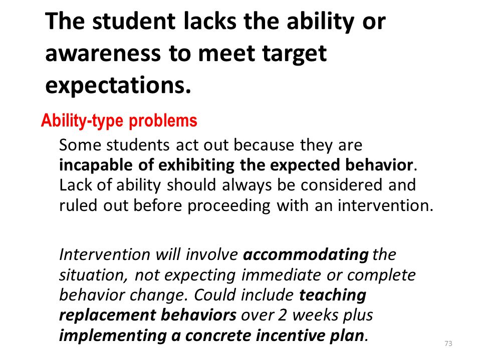 The student lacks the ability or awareness to meet target expectations.
