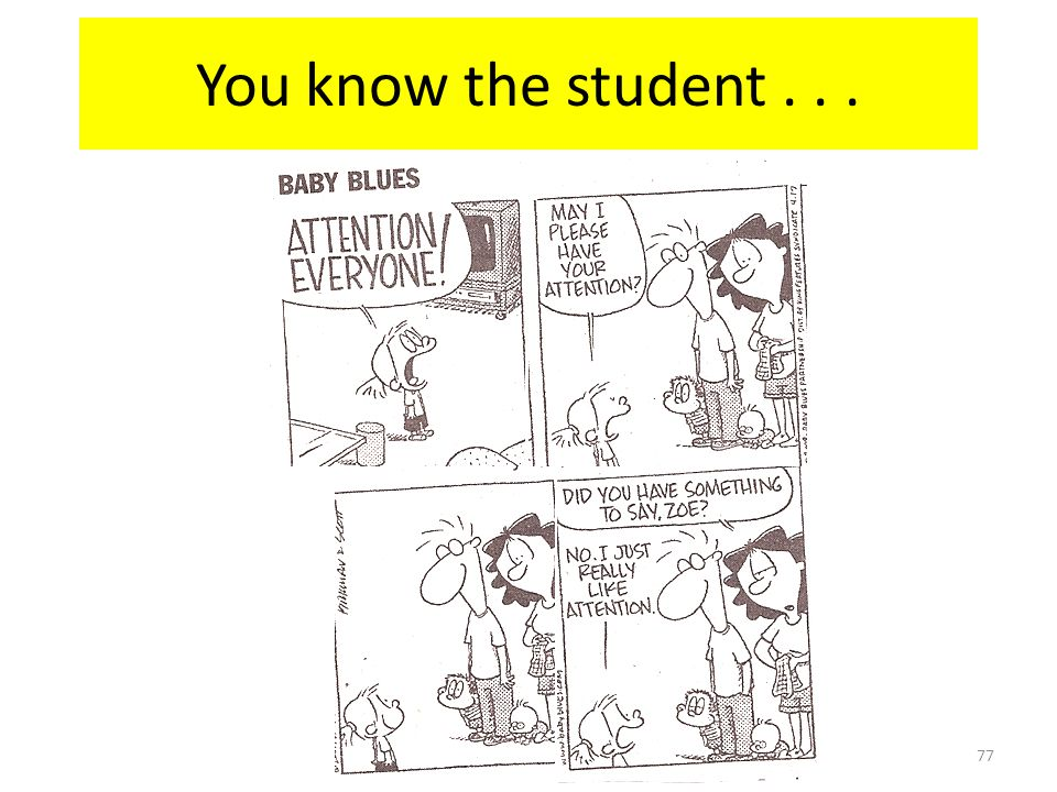 You know the student . . .