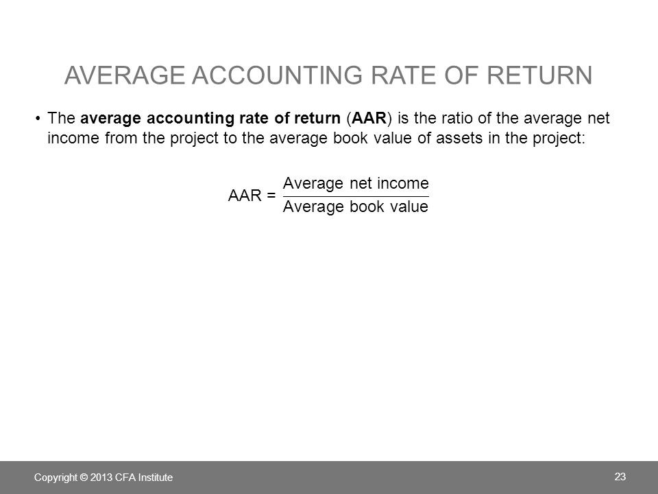 Average Accounting rate of return