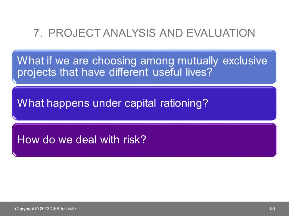 7. Project analysis and evaluation