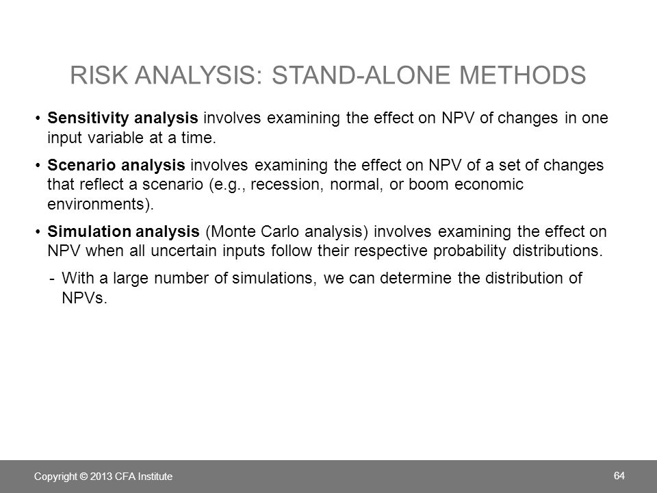 Risk analysis: Stand-alone methods