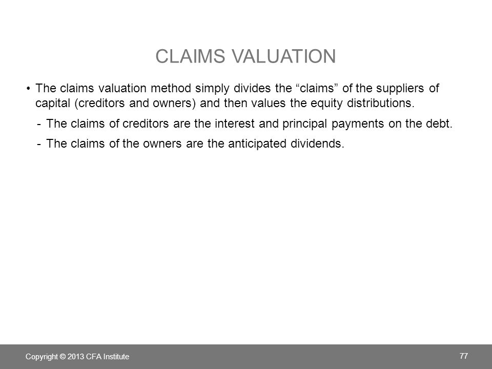 Claims Valuation