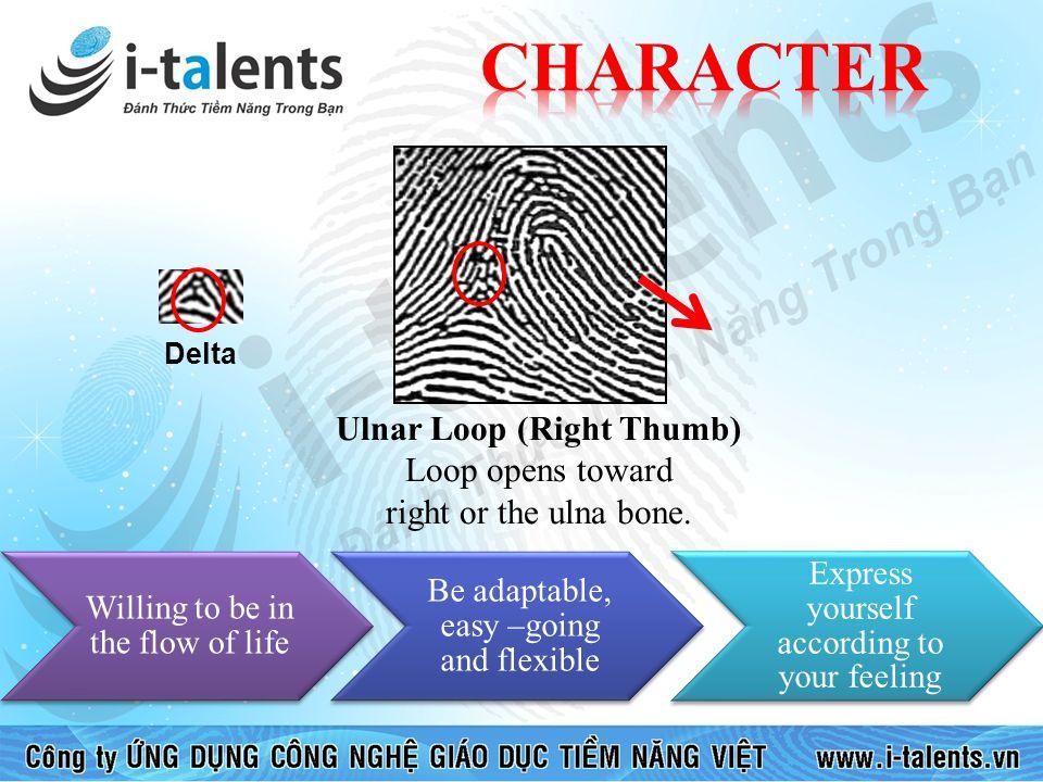 CHARACTER Ulnar Loop (Right Thumb)