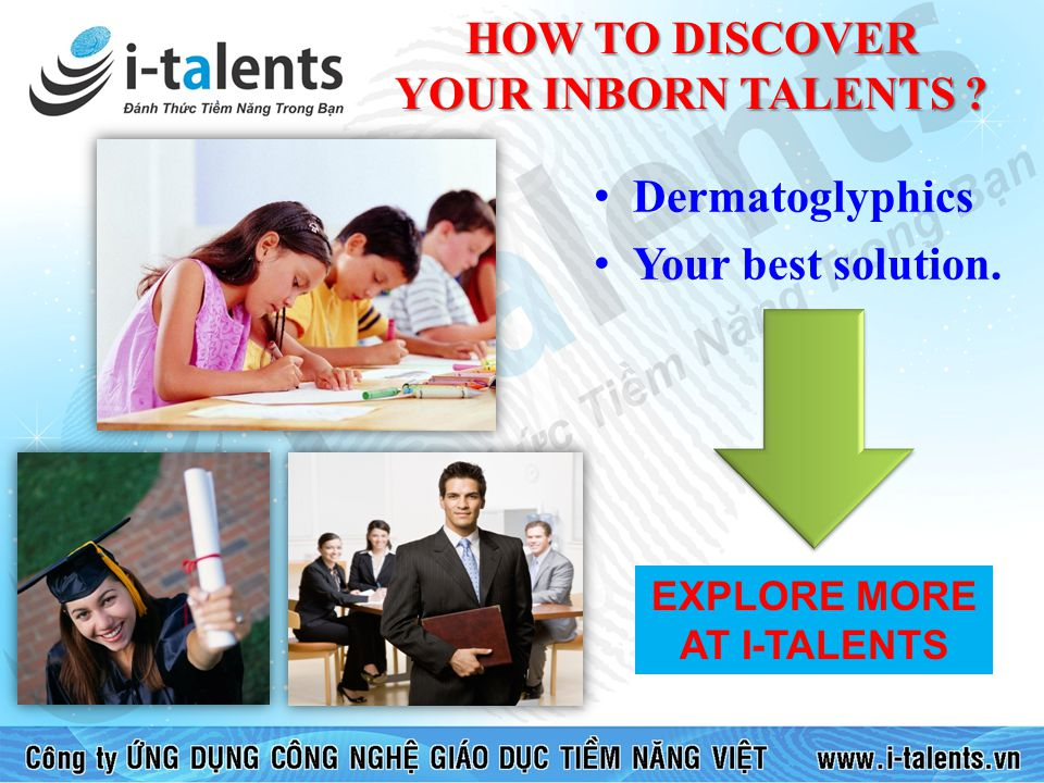HOW TO DISCOVER YOUR INBORN TALENTS