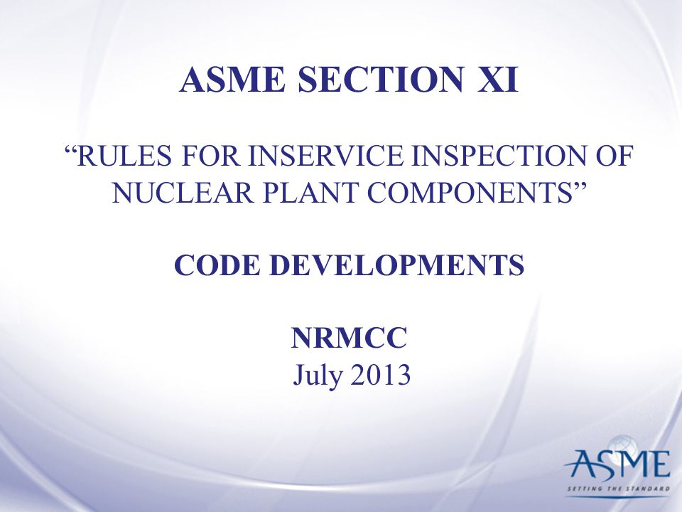 RULES FOR INSERVICE INSPECTION OF NUCLEAR PLANT COMPONENTS
