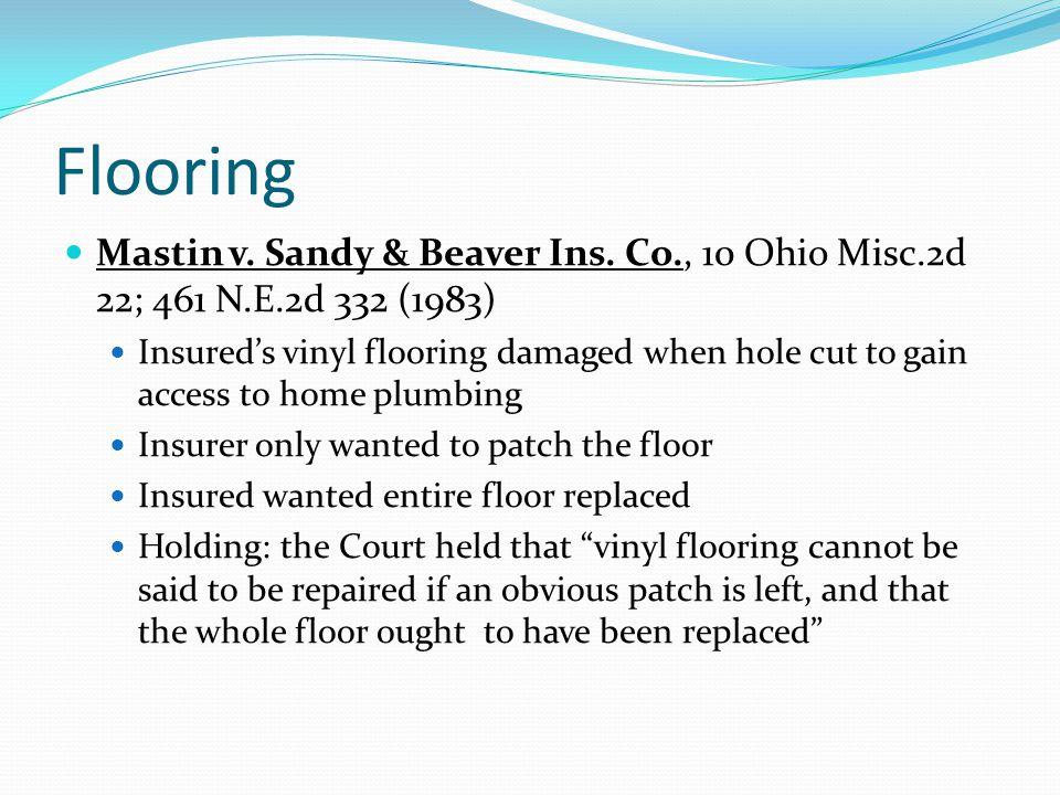 Flooring Mastin v. Sandy & Beaver Ins. Co., 10 Ohio Misc.2d 22; 461 N.E.2d 332 (1983)
