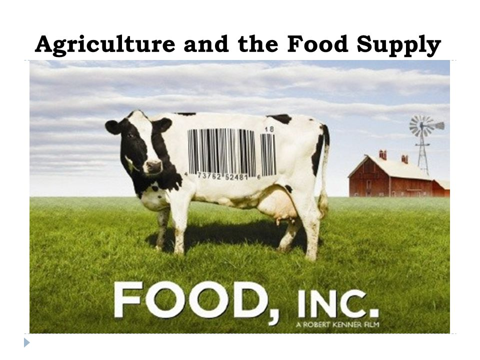 Agriculture and the Food Supply