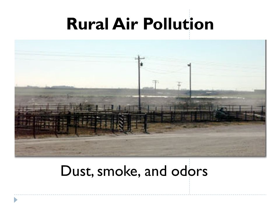 Rural Air Pollution Dust, smoke, and odors