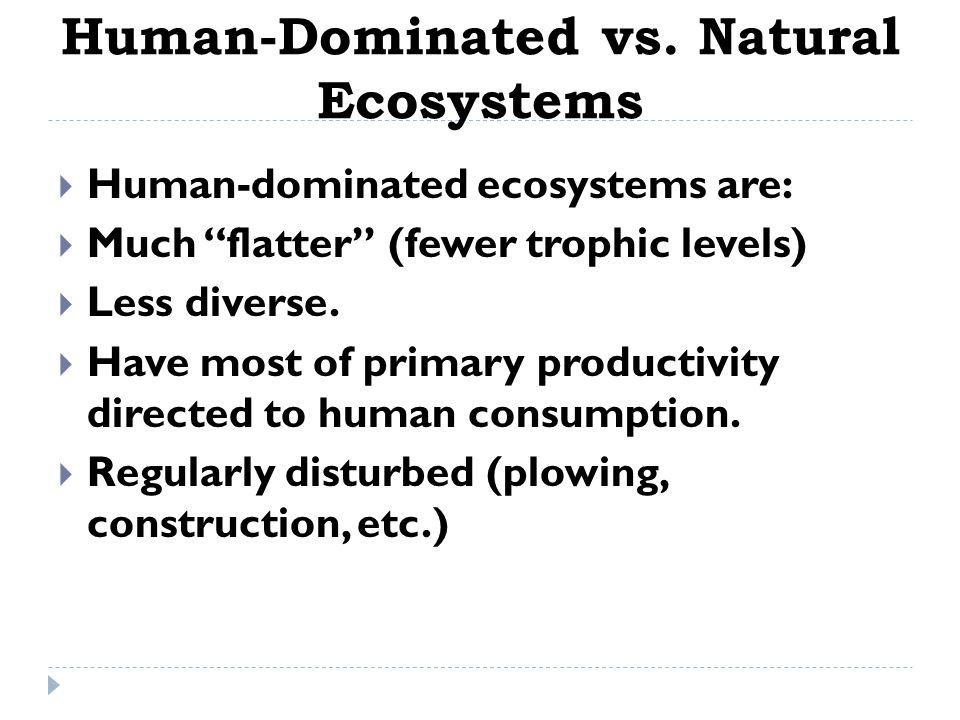 Human-Dominated vs. Natural Ecosystems