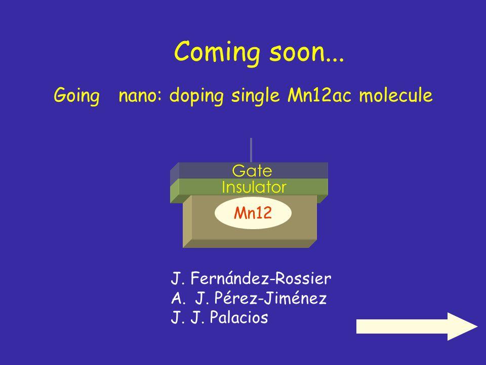 Coming soon... Going nano: doping single Mn12ac molecule Gate