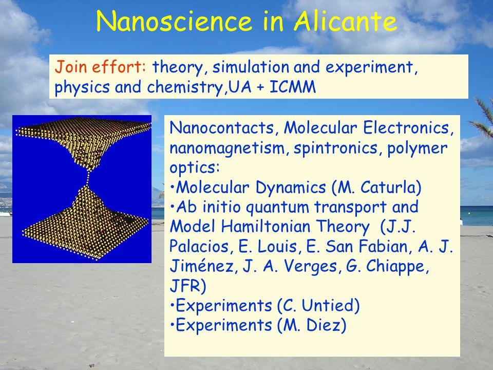Nanoscience in Alicante