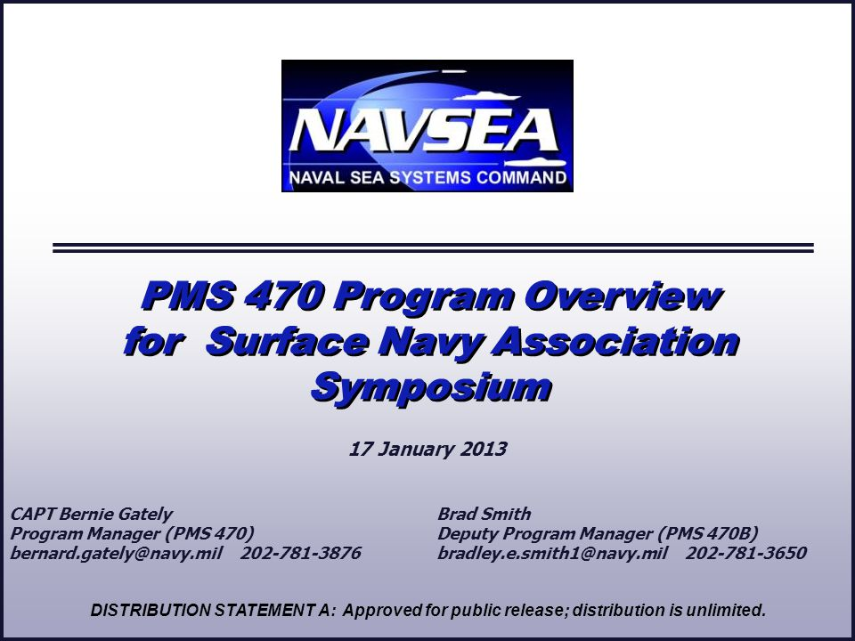 for Surface Navy Association Symposium