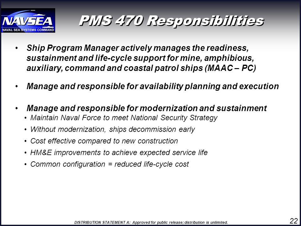 PMS 470 Responsibilities