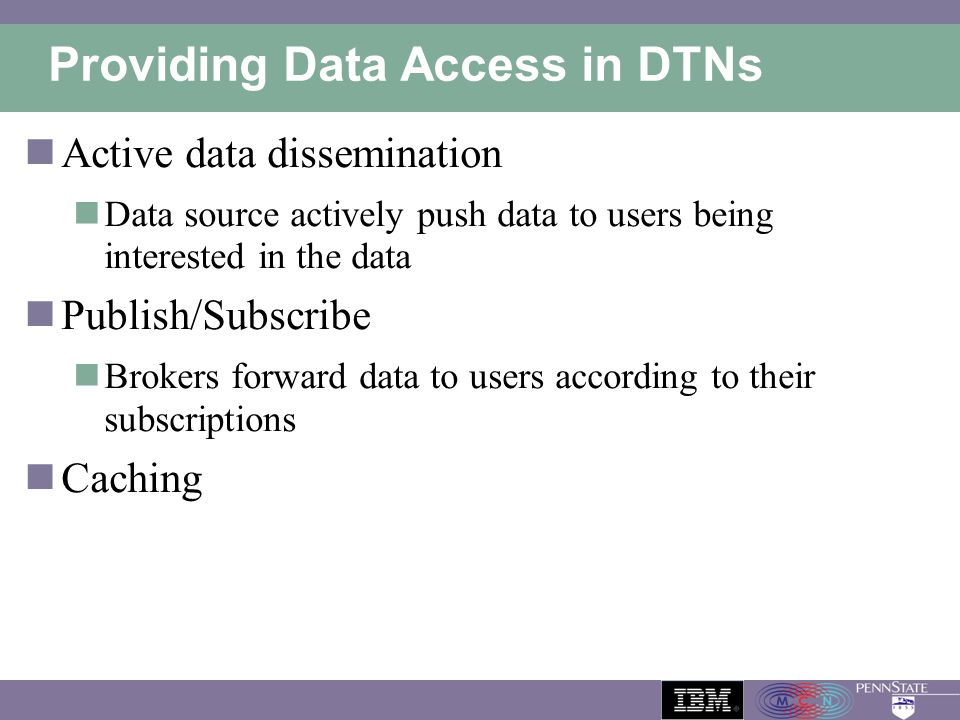 Providing Data Access in DTNs
