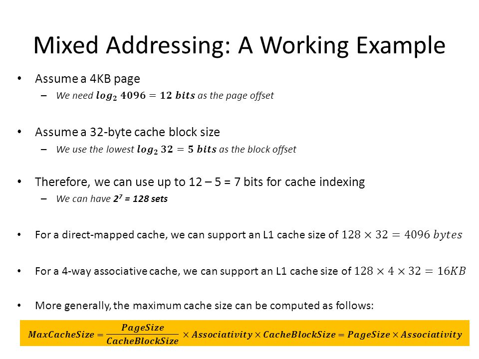 Mixed Addressing: A Working Example
