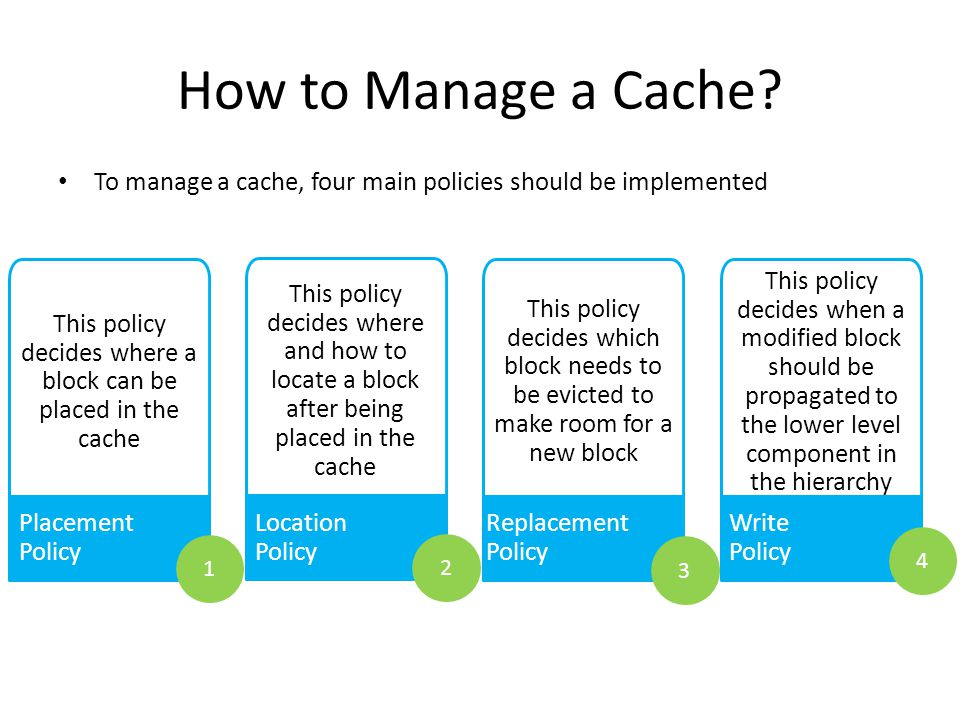 This policy decides where a block can be placed in the cache