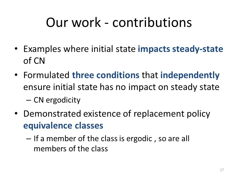Our work - contributions