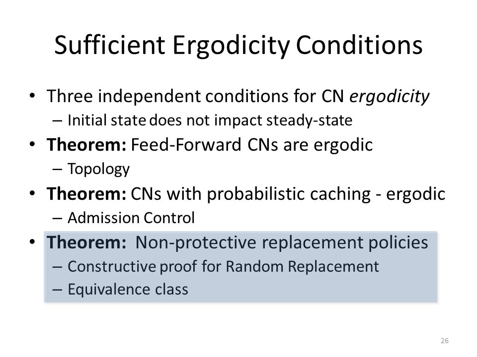 Sufficient Ergodicity Conditions