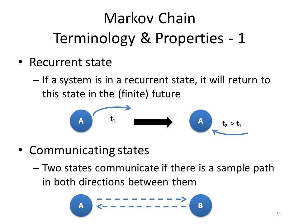 Markov Chain Terminology & Properties - 1