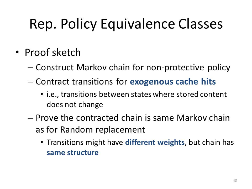 Rep. Policy Equivalence Classes