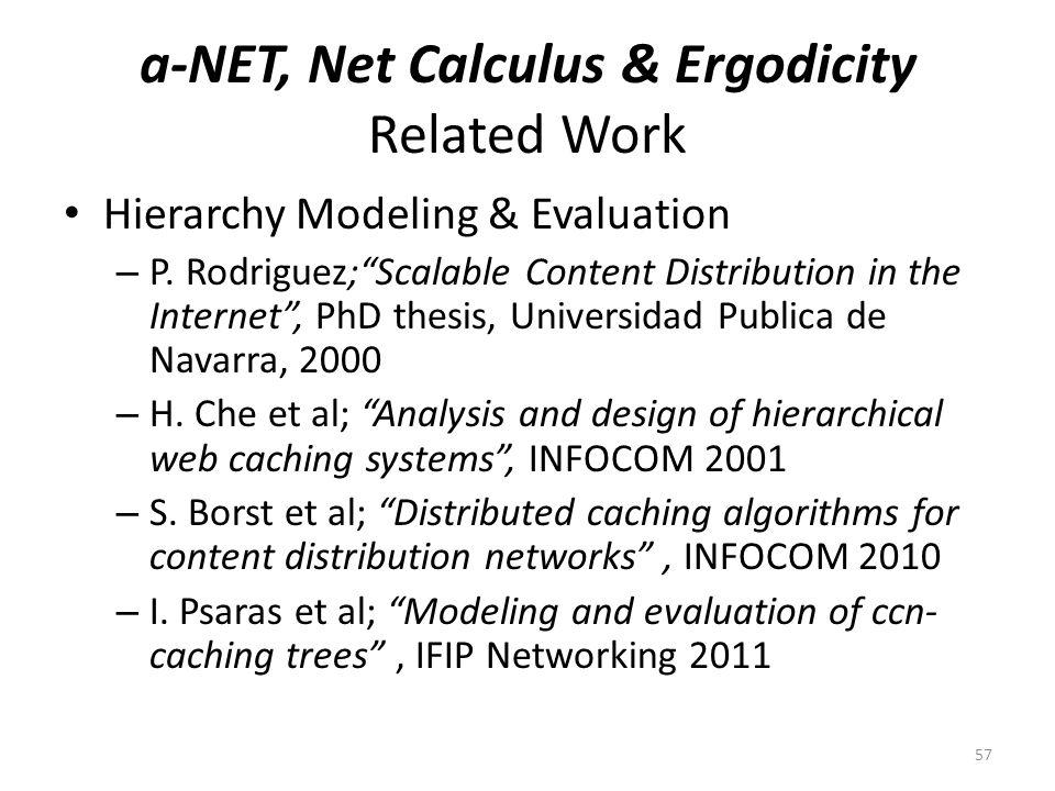 a-NET, Net Calculus & Ergodicity Related Work