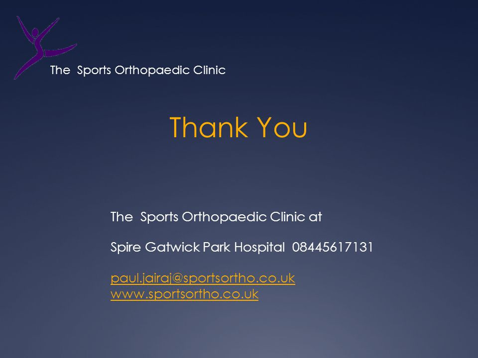 The Sports Orthopaedic Clinic