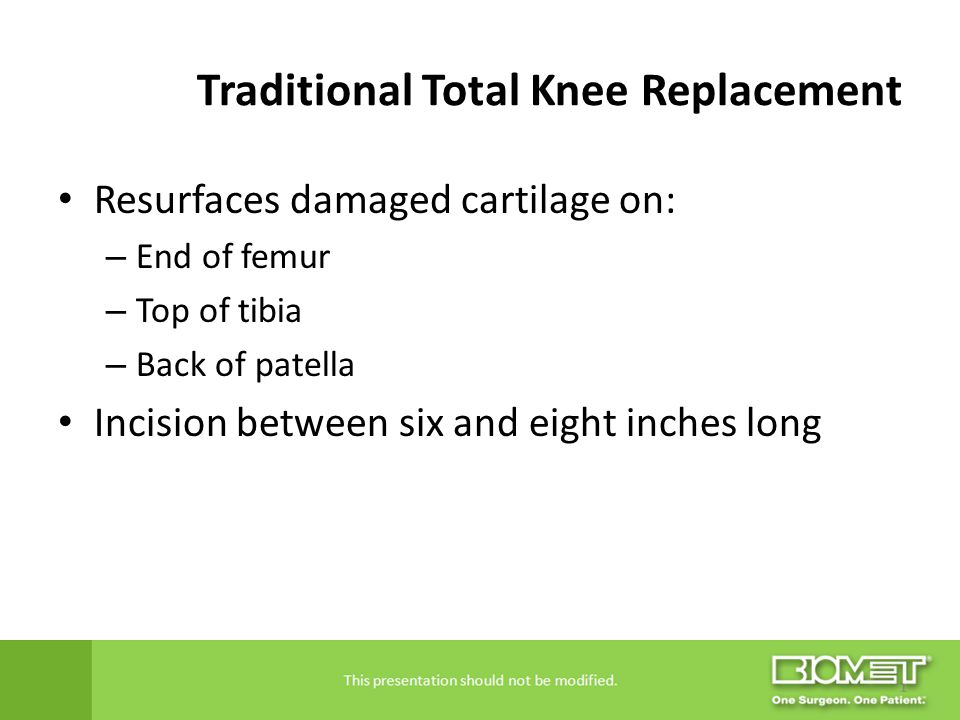 Traditional Total Knee Replacement
