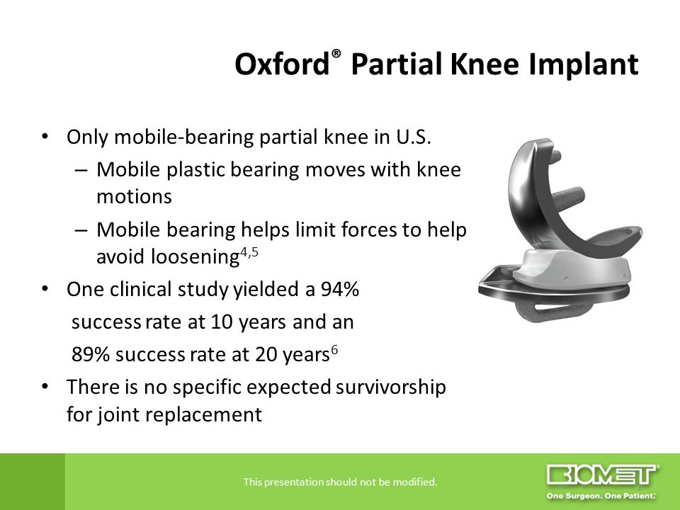 Oxford® Partial Knee Implant