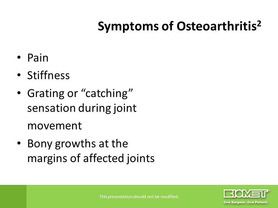 Symptoms of Osteoarthritis2