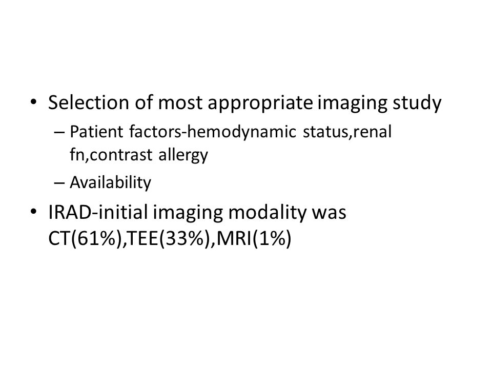 Selection of most appropriate imaging study