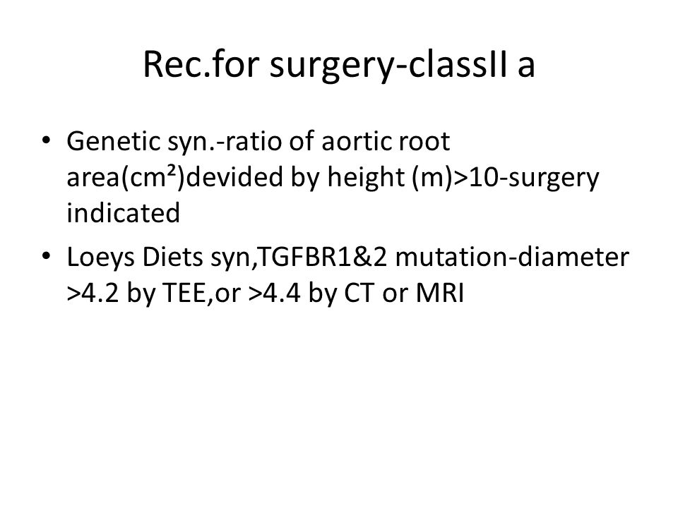 Rec.for surgery-classII a