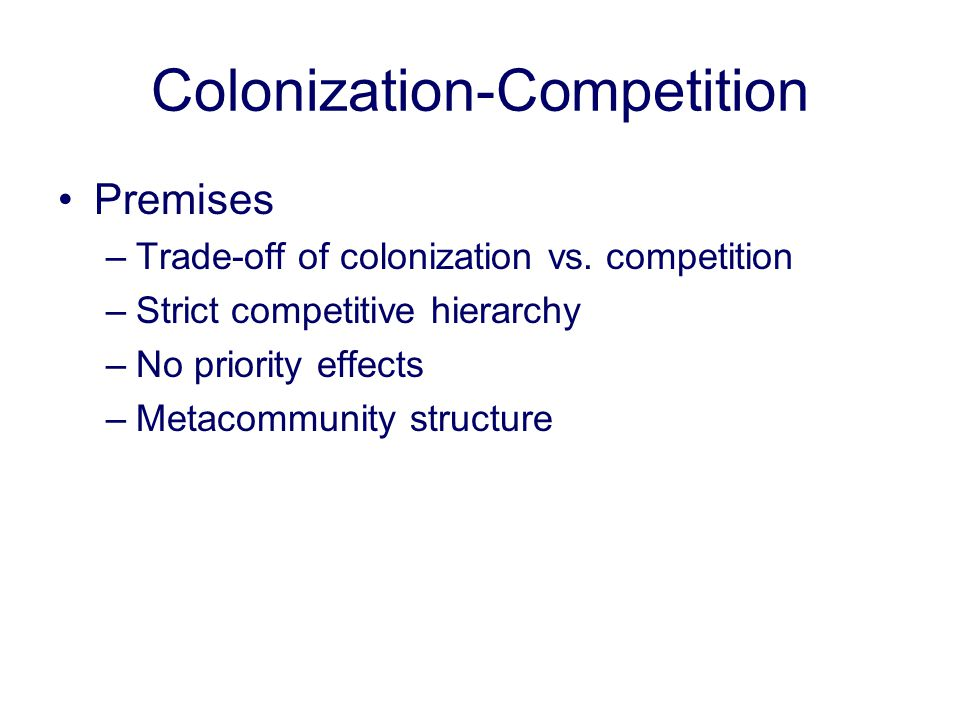 Colonization-Competition