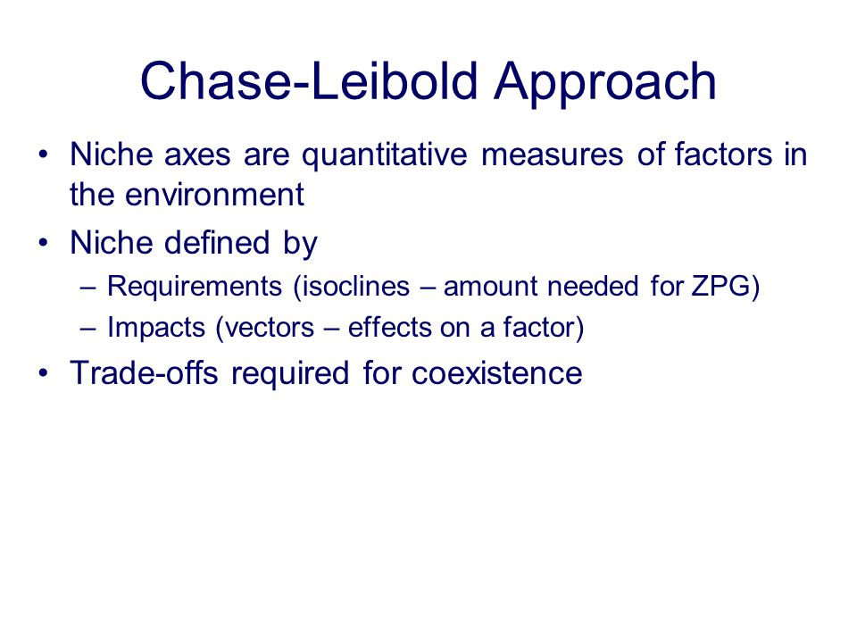 Chase-Leibold Approach